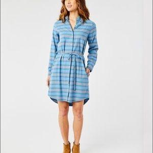 Aida Flannel Shirt Dress